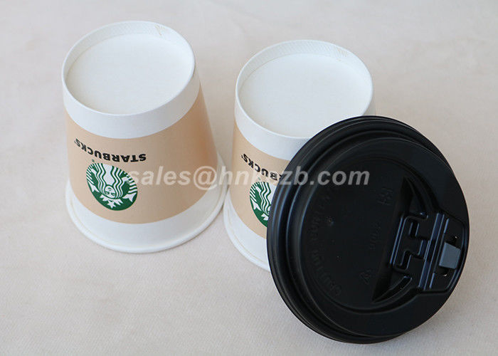4oz Ice Cream Paper Cups With Lids Custom Logo Printed For Yogurt / Drinking