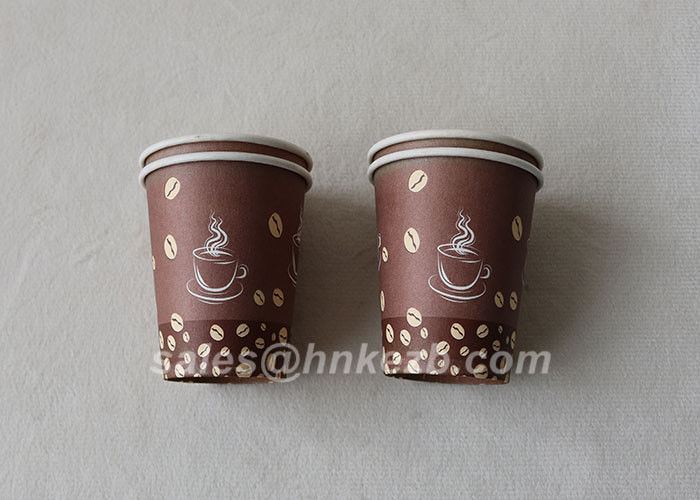 Food Grade 380ml Double Wall Coffee Paper Cups Multi - Color Printing